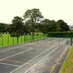Coloured Macadam Tennis Courts in Ashey 7