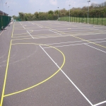 Coloured Macadam Tennis Courts in Ashey 4
