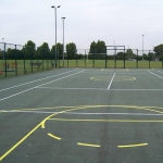 Coloured Macadam Tennis Courts in Ashey 6
