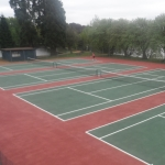 Coloured Macadam Tennis Courts in Ashey 5