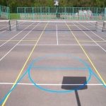 Coloured Macadam Tennis Courts in Ashey 8