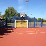 Coloured Macadam Tennis Courts in Ashey 3