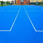 Coloured Macadam Tennis Courts in Arthington 9