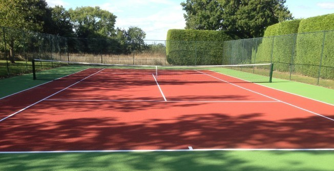 Tarmacadam Tennis Courts in Ashey