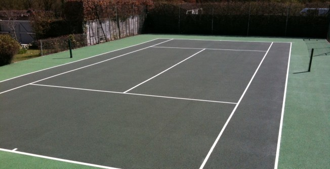 Macadam Coloured Tennis Courts in Ashey