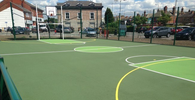 Asphalt Sports Pitches in Alvanley